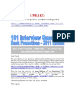 101 Questions for Bank Interview-2011 Edition-VRK100-03Oct2011