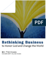 Rethinking Business to Honor God and Change the World