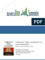 Turbulent Times Leadership for Sales Managers