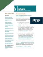 Shadac Share News 2011oct03