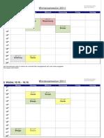 Stundenplan 2011