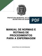 Manual de Normas e Rotinas de Procedimentos Para a Enfermagem - Campinas