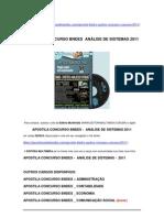 APOSTILA CONCURSO BNDES ANÁLISE DE SISTEMAS 2011