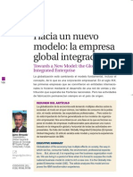 Hacia Un Nuevo Modelo de Empresa Integrada
