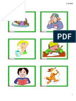 Flashcards Actions Small