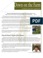 Fall 2011 Homeless Garden Project Newsletter