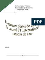 Evaluarea Fortei de Vanzare in Cadrul JT International - Studiu de Caz