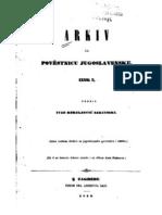 Ivan Kukuljevic Sakcinski Arkiv Za Povjestnicu Jugoslavensku Knj II