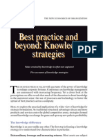 Best Practice and Beyond-Knowledge Strategies