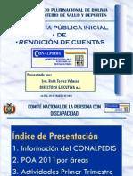 Audiencia Inicial de Rendicion de Cuentas 2011