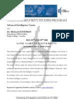 Advanced Intelligence Course (Goodman May 28 & 29)