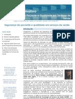 BOLETIM INFORMATIVO SEGURANÇA DO PACIENTE E QUALIDADE EM SERVIÇOS DE SAÚDE - V1N1 (2011)