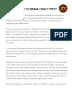 History of Pi Sigma Fraternity