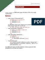 2 - Exercice HTML Listes a Puces Listes Numerotees Listes Descriptives Texte Preform Ate