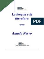 Nervo, Amado - La Lengua y La Literatura