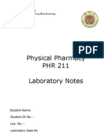Practical-Physical Pharmacy-Covering Page & Instructions