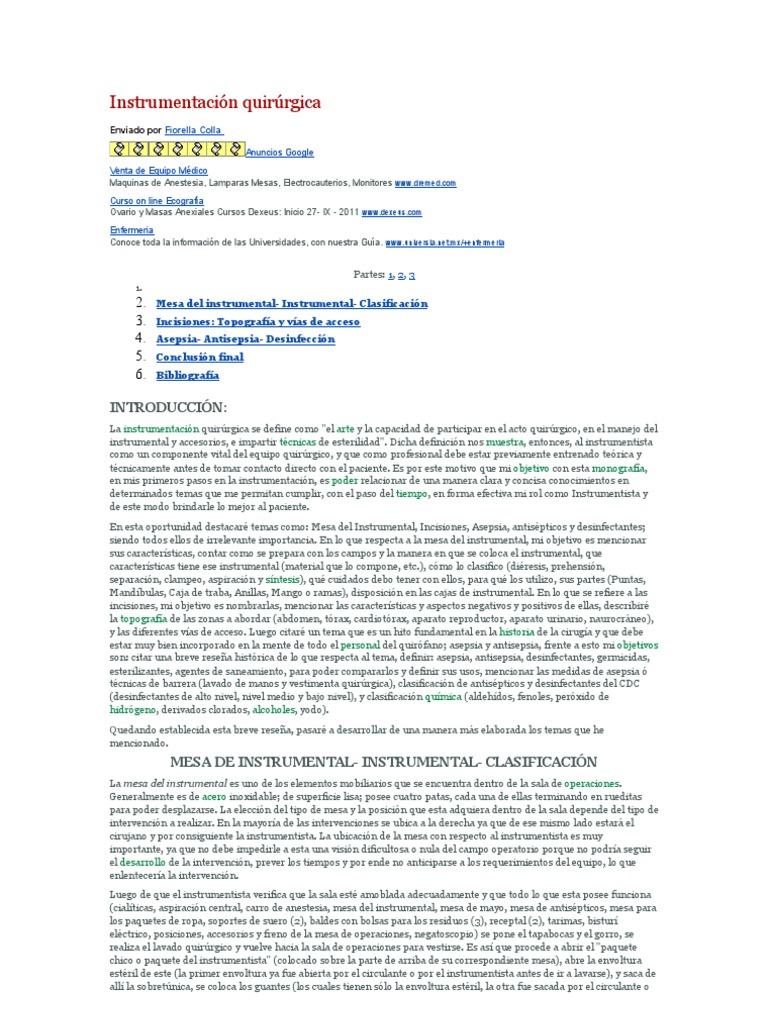 Instrumentación quirúrgica | Abdomen | Intestino grueso