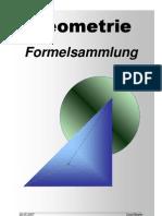 Geometrie Formelsammlung A4 Deutsch