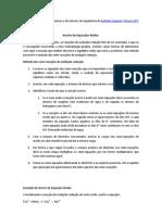 ACERTO REDOX-REGRAS