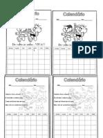 calendários mensais para os alunos