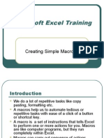 Excel Macro Training