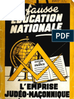 Bertrand Jean Et Wacogne Claude - La Fausse Education Nationale Original)