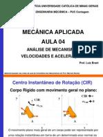 Aula 04-Analise de Mecanismos Velocidade Aceleracao2
