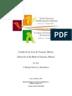 Veracruz Bird Check-List