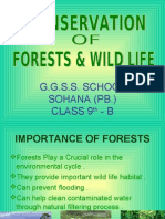 Conservation of Forests and Wild Life