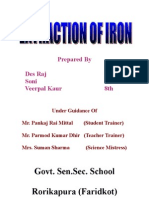 Extraction of Iron