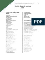 Selección de Poesía Quechua Jailli