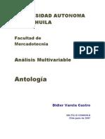 Antologia de Analisis Mltivariado