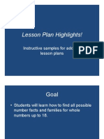 Lesson Plan Highlights
