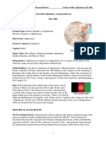 Afghanistan - Country Profile
