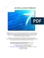 Manual de Instalación de Windows 7