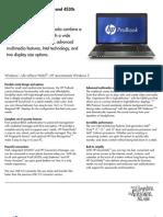 HP ProBook 4430s 4530s Notebook PC Datasheet