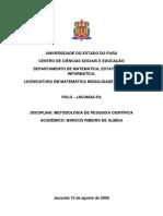 Metodologia de pesquisa cientícia - ENTREVISTA