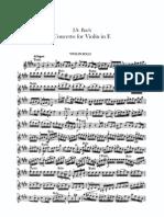 Bach Violin e