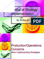 Essential of Strategy Implementation