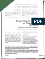Comportamiento electoral en Ciudad Juárez 1983-2004 - José Eduardo Borunda Parte 1