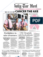 The Daily Tar Heel for October 4, 2011.