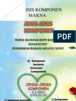 ANALISIS KOMPONEN MAKNA