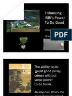 Enhancing IRRI's power to do good
