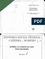 Bernstein Eduard - Sobre La Esencia Del Socialismo Democrático