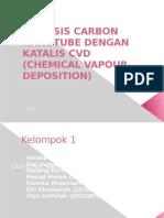 Sintesis Carbon Nanotube Dengan Katalis Cvd