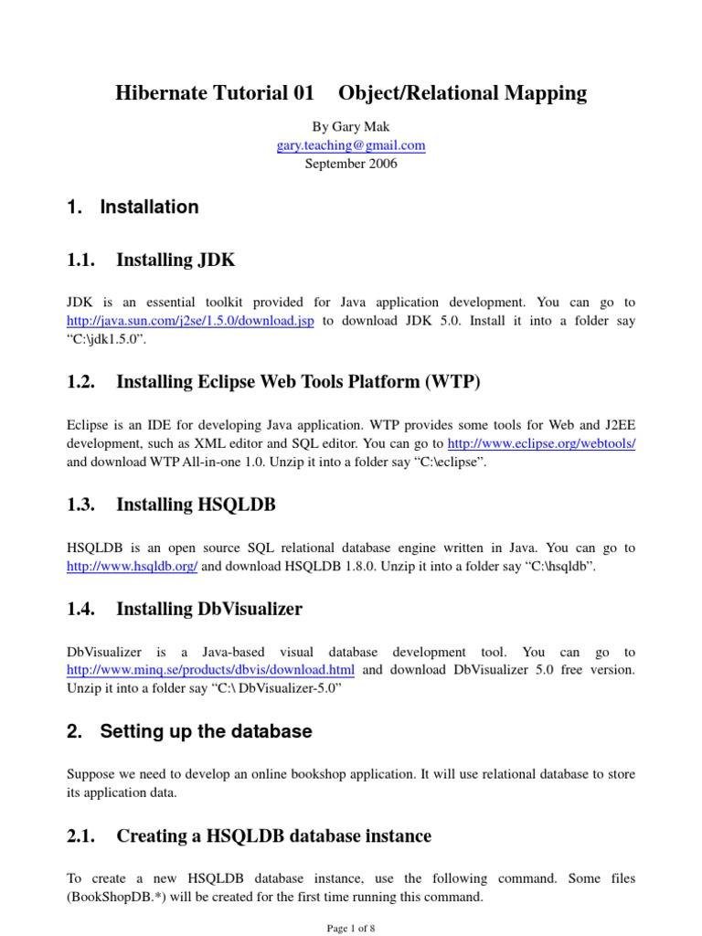 Hibernate Tutorial 01 | Bases de datos | Eclipse (Software)