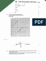 AL 1996 Physics Marking Scheme