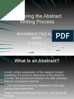 Abstract Writing Process