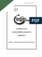Graduate Programme Handbook 2011