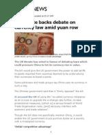 china currency debate
